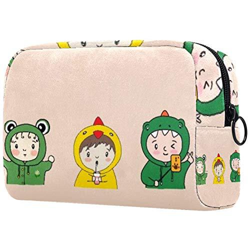 Bolsa de brochas de maquillaje personalizables, bolsas de aseo portátiles para mujeres, bolso de cosméticos, organizador de viajes, parque infantil