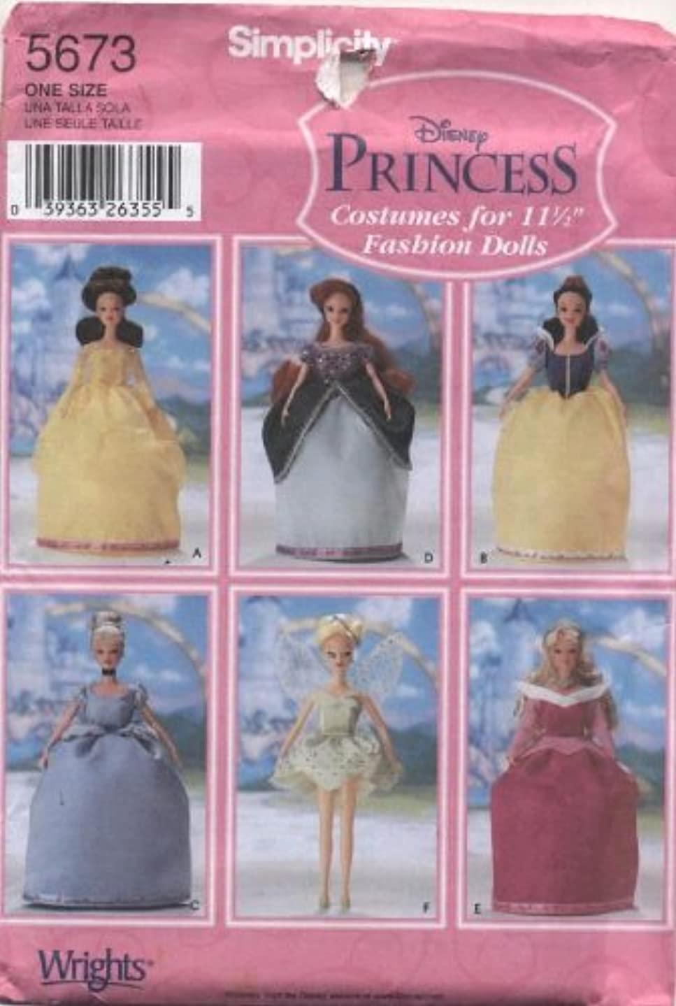 Simplicity Disney Princess Costumes for 11 1/2