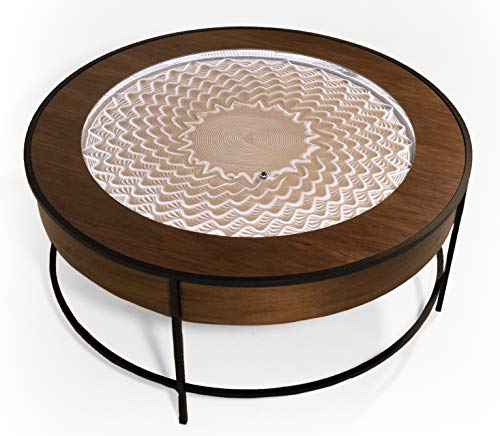 Sisyphus Metal Coffee Table (Walnut Veneer)