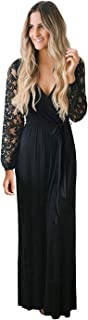 Best black wrap maxi dress Reviews