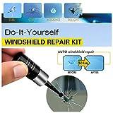 réparation de verre automobile, trousse à outils de réparation de fissures de fissure en verre de vitre de voiture avec résine de réparation de pare-brise, bricolage professionnel (1PCS)