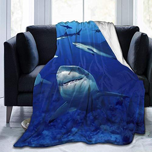 Hdadwy Sharks Air Freshner Superweiche warme Kunstpelz-Decke Ultra-weiche Micro-Fleece-Decke Twin, warm, leicht, tierfreundlich, Überwurf für das Bett zu Hause, das Sofa und den Schlafsaal