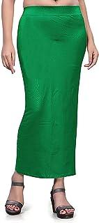تنورة داخلية من الألياف الدقيقة الساري للنساء ، قطن ممزوج الشكل ملابس ساري (أخضر داكن) ملابس داخلية