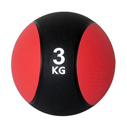 Unibest Medizinball Gummimedizinball Fitnessball Gymnastikball Gewicht 1kg-6kg - rot