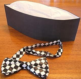 PHCO Black Soda Jerk Paper Party Hat & Bowtie