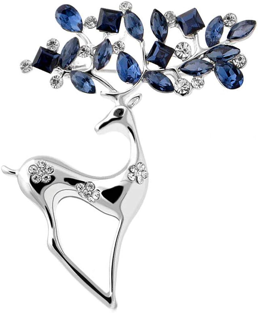 YouBella Jewellery Latest Crystal Unisex Deer Brooch for Women/Girls/Men