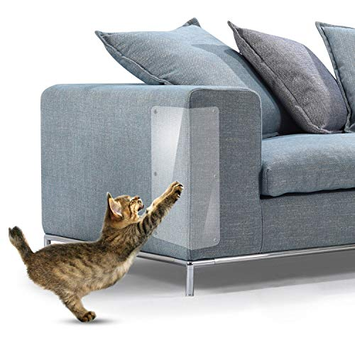 JCW Cat Scratch Guard Furniture Protector - Four Guards Per Package - (18.5' L x 5.9' W) - Best Protection from Pets Scratching - Love Your Furniture and Your Cat!