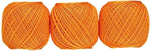 オリムパス製絲 金票 レース糸 #40 Col.171 オレンジ 系 10g 約89m 3玉セット