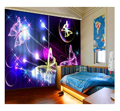 Aymsm Home Decoration 3D Curtains dream bow night Curtain Living room beautiful Kids room Curtains