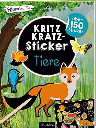Kritzkratz-Sticker Tiere: Mit über 150 Stickern