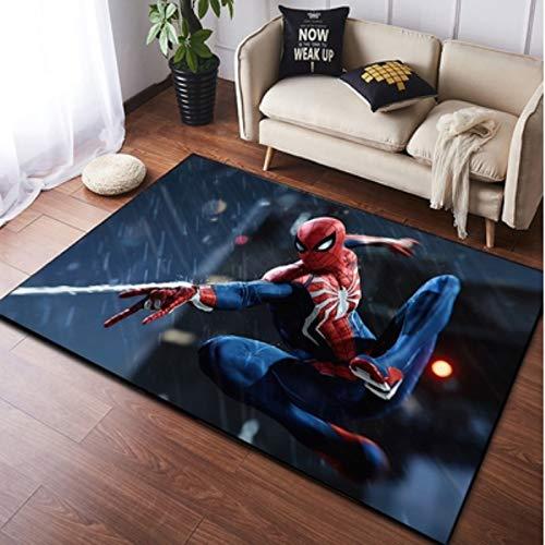 LSXA Tapis Salon Chambre Chevet Marvel Spiderman Dessin Animé Tapis Cuisine Maternelle Couloir Mode Absorption Créative Tapis De Course