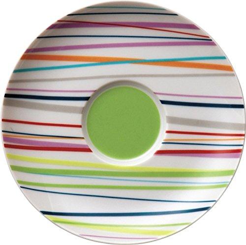 Thomas Sunny Day Soucoupe pour Tasse à Café 20 cl, Porcelaine, Sunny Stripes / Rayures Multicolores, Passe au Lave-Vaisselle, 14,5 cm, 14741