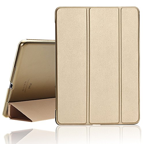 New iPad Case, 2017/2018 iPad 9.7 inch Cover Case with Auto Sleep/Wake Function,Ultra Slim Lightweight Smart iPad Case For Newest iPad Model A1822/A1823/A1893/A1954(Champagne Gold)