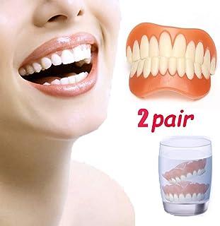 2組の完全な微笑のベニヤの即刻の微笑の慰めの屈曲の義歯、2 PCの歯の底+ 2 PCの上部
