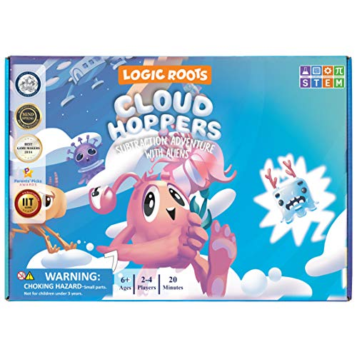 Logic Roots Cloud Hoppers Addition and Subtraction Game - Fun Math Board...
