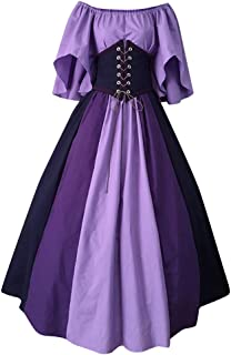 Womens Renaissance Medieval Costume Dress Gothic Victorian Fancy Dresses, LIM&ShopLong Maxi Dresses Witch Cosplay