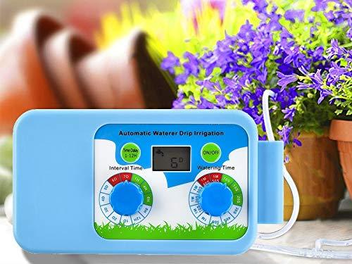 Sistema de Riego Automático con Temporizador Sistema de Riego de Jardín DIY Kit de Riego por Goteo Dispositivo de Riego Automático para Bancal de Flores, Terraza, Jardín o Plantas de Maceta
