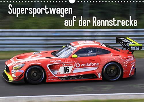 Supersportwagen auf der Rennstrecke (Wandkalender 2020 DIN A3 quer)