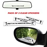 Objects In Mirror Are Zombies Sticker Decal Car Funny Hunting