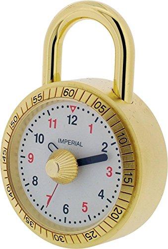 Gold Vorhängeschloss Miniatur Uhr von Gift Time Products