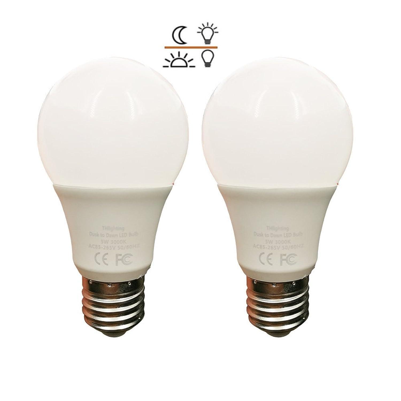 LED電球 常夜灯 あかりセンサー付 電球色 暗くなると自動で点灯 明るくなると自動で消灯 450lm 口金E26 省エネ 長寿命(常夜灯5W-2個セット)