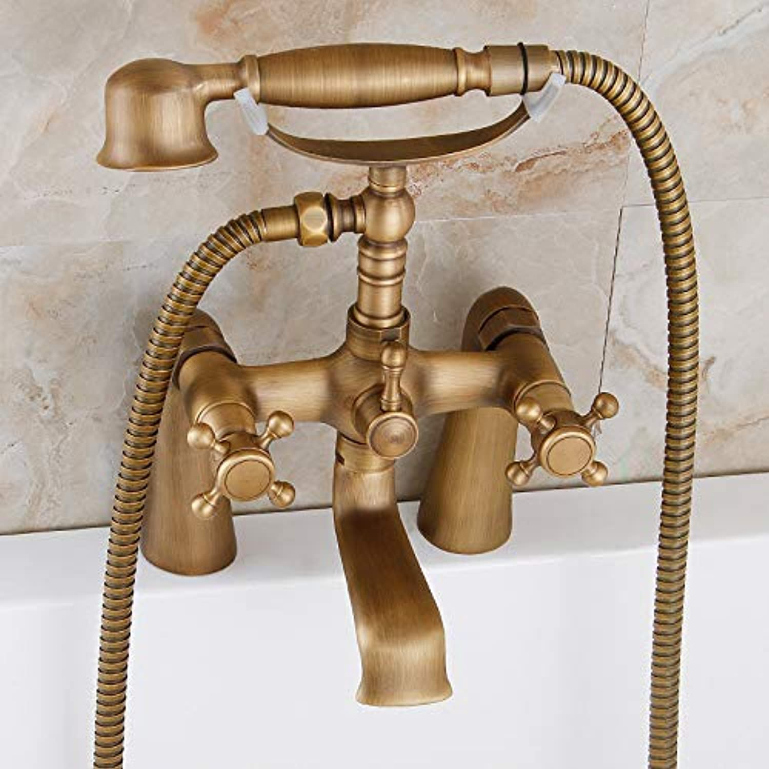 redOOY Taps All-Copper European-Style Bathtub Mixer Faucet Antique Shower Shower Retro Hot And Cold Shower