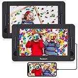 HDMI Input Lecteur DVD Portable Voiture 2 Ecrans Appuie-tête de 10,1 Pouces NAVISKAUTO pour Enfants Supporte USB SD MMC Autonomie de 4 Heures Dernière mémoire (Deux Lecteurs DVD)