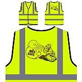 tocadiscos vintage Chaqueta de seguridad amarillo personalizado de alta visibilidad u360v