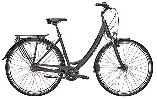 ZEG Pegasus Solero SL 7 Wave Damenfahrrad 7 Gang Cityrad 2020, Farbe:schwarz, Rahmenhöhe:45 cm