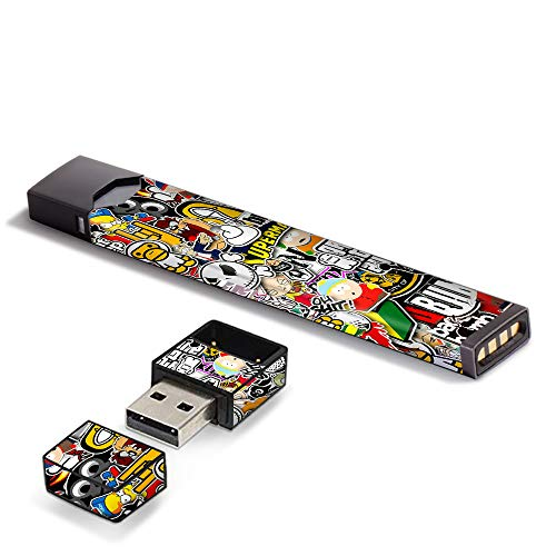 IT'S A Skin Decal Vinyl Wrap for Pax JUUL Vape with USB Charger Sticker Sleeve, Sticker Bomb Slap