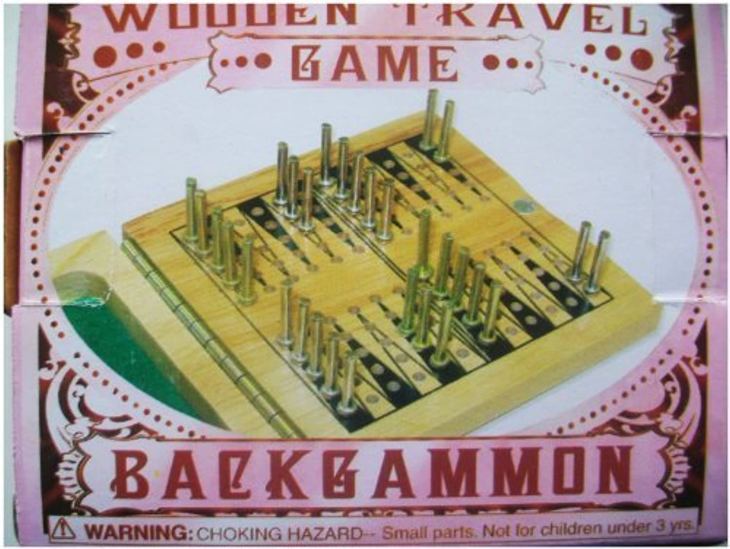 Wooden Travel Game - Backgammon by House of marbles