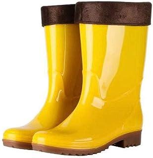 Bottes De Pluie, Tube Jaune Mini Extérieur Tendon De Boeuf Au Fond De l'eau Alimentaire Chaussures Hommes Chaussures Botte...