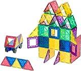 Playmags Set da costruzione pluripremiato di piastrelle magnetiche con colori chiari, 50 +...