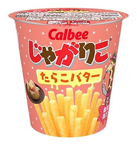 Calbee Jagariko Potato Sticks Snack Tarako Butter Flavor (Cod Roe) 52 g × 9 Cups (Japan Import)