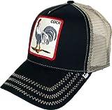 Goorin Bros Men's Rooster 'Cock' Patch Trucker Hat Cap (Black)