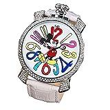 ディズニー 腕時計 disney ウォッチ ダイヤ ガガ gaga ホワイト [並行輸入品]