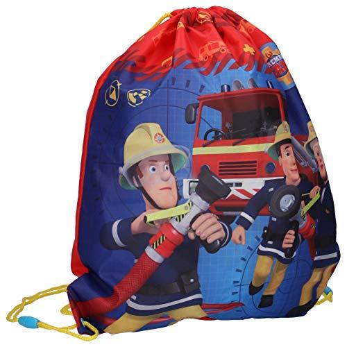 SfG-Shop Feuerwehrmann Sam Kinder Schuhbeutel Sportbeutel Sport Turnbeutel Sporttasche Rucksack