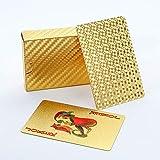 Trendcool Cartas Poker. Baraja Poker Juego de Mesa. Baraja de Cartas Poker Impermeable. Baraja Poker Doradas, Oro. (Gold)
