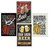 ビールヴィンテージティンサインメタルポスタービールポスターポスター,ブラウン