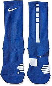 Nike Elite Basketball Crew Socks X-Large  Fits Men Size 12-15  SX7626-463 Royal Blue White