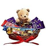 SFU E Com Chocolate with Cute Teddy Hamper | Gift for Holi, Rakhi, Diwali, Anniversary, Birthday,...