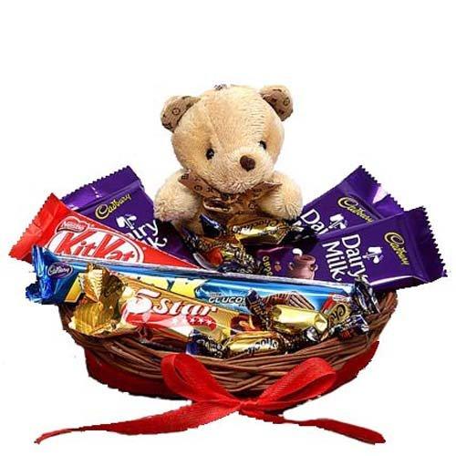 SFU E Com Chocolate with Cute Teddy Hamper
