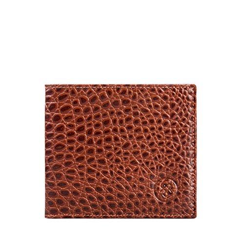 Maxwell-Scott® Luxus Herrengeldbörse in Cognac Braun in Krokodilleder-Optik (Vittore Croco)