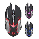 Mechanical Gaming Mouse GINWFLY Computer 3200 DPI Optical 6D Modem USB Luminous Wired