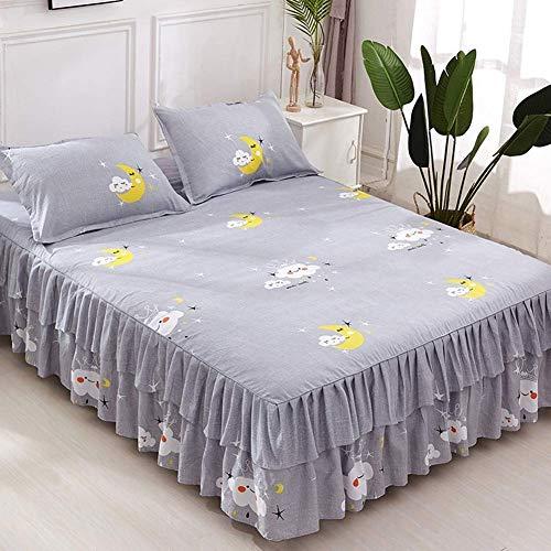 Exquisite En Royale Polyester Bed Rok, Discover Het Bed Rms, En Versier De Slaapkamer, Flower