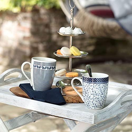 Madame Coco Maena Marant Tassen 2er Set - Kaffeetasse Teetasse 300 ml Design, hellblau orientalisch hochwertig, tee, mocca cappuccino kaffee , das ideale Geschenk