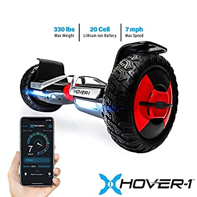 Hover-1 Beast Hoverboard All Terrain with 10 inch Off Road Tires Hover boards with Bluetooth Speaker Customize 3 learning modes and LED Lights App Enabled for Kids UL 2272 Certified