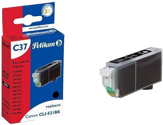 Pelikan C37 Druckerpatrone Ersetzt Canon Cli 521bk Schwarz Bürobedarf Schreibwaren