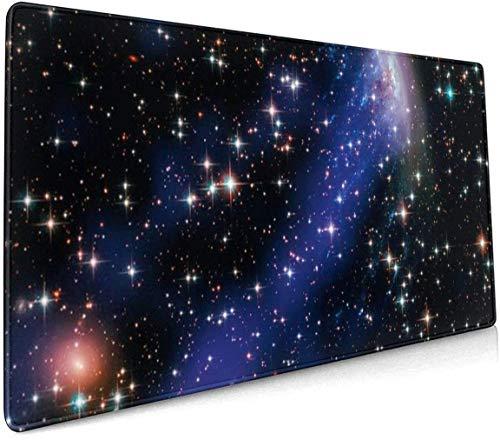 Großes Gaming-Mauspad Stars and Norma Galaxy Rutschfestes Gummi Verdicken 3 mm Tastatur-Mauspad Mousepad 40 x 75 cm