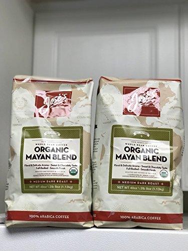 Jose's 100% Organic Mayan Whole Bean Coffee 2.5 lb. Bag 2-pack